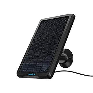 Reolink Solar Panel Power Supply for Wireless Outdoor IP Security Camera Argus 2, Argus Pro, Argus Eco, Go, Waterproof Adjustable Mount Continuous Power Supply (with 4 Meters Cable)