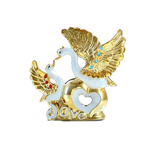 Felice Home- Decoración de cisne plateada en oro Regalos Regalos de boda Día de San Valentín Muebles para el hogar Gabinete Sala de estar Creative adornment ( Tamaño : XL )