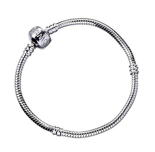 Per adulti, misura piccola, 18 cm, prodotto ufficiale di Harry Potter-Bracciale in argento, per gioielli Harry Potter Slider-Charm