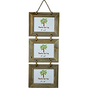 """Nicola Spring Triple 3 Photo Hanging Picture Frame - 7 x 5"""""""