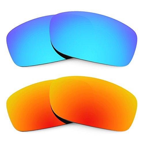 Revant Ersatzlinsen für Oakley Fives Squared Polarisiert 2 Paar Kombipack K002