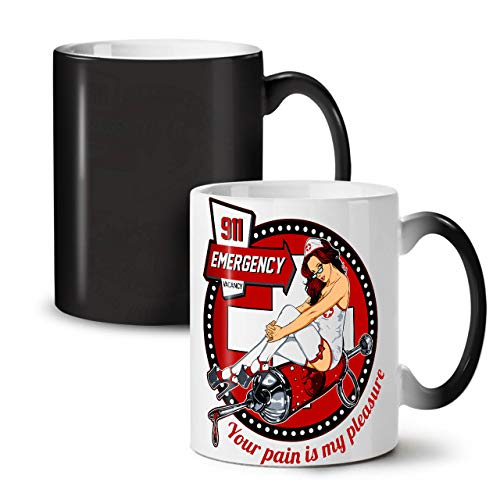 nschwester Notfall Farbwechselbecher, Kostüm Tasse - Großer, Easy-Grip-Griff, Wärmeaktiviert, Ideal für Kaffee- und Teetrinker ()