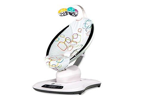 4moms Babywippe mamaRoo4 Babyschaukel elektrisch mit Musik automatische Schaukelwippe mit Spielbogen, mehrfarbig