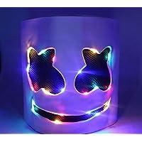 LED MarshMello DJ Mask Full Head Helmet Cosplay Marshmallow Party Music Prop