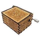 TAOtTAO Handgemachtes hölzernes Handwerk der hölzernen Spieluhr der Spieluhr Reine handklassische Spieluhr Hand-Holz-Spieluhr Kreative Holzhandwerk Beste Geschenke (A)