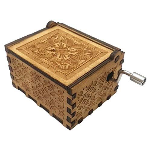 s hölzernes Handwerk der hölzernen Spieluhr der Spieluhr Reine handklassische Spieluhr Hand-Holz-Spieluhr Kreative Holzhandwerk Beste Geschenke (A) ()