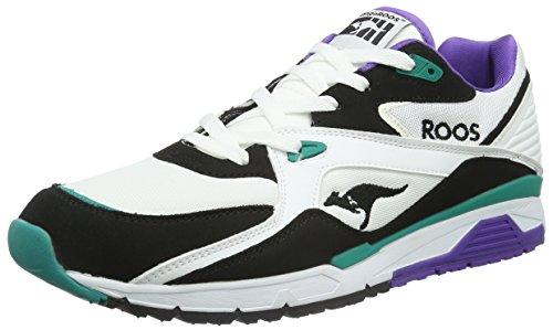 KangaROOS Runaway Roos 001, Scarpe da Ginnastica Unisex – Adulto Multicolore (Mehrfarbig (White/smaragd 083))