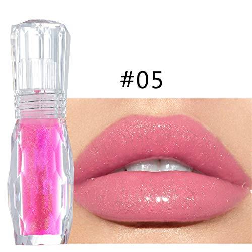 Lip Plumer mit 6 colors optional, Lip Gloss Multicolor Transparent Makeup Feuchtigkeitsspendender Lipgloss Extreme Primer Big Lips, lipgloss matt lipgloss nudetöne, lipgloss durchsichtig Lippenpflege (Big Lip Gloss)