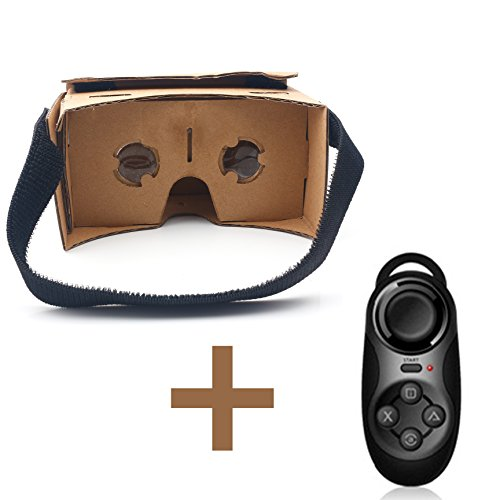 iprotect 3D Virtual Reality Brille Cardboard VR Glasses Headset für Smartphones (4'-6') und...