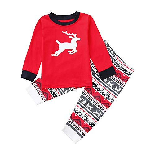 fdd07f352dc03 Ensembles de Pyjama Noël Famille, LHWY Ensembles de Pyjama Noël Famille  Pantalon Sleepwear Renne Vêtement
