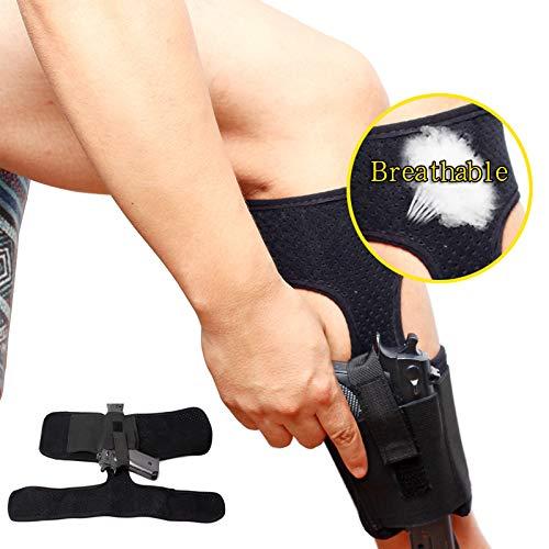 Gexgune Knöchel verdeckte tragen 1PC atmungsaktive verstellbare Bein tragen Pistole Pistole Magazin Beutel für Glock 27,42,43. -