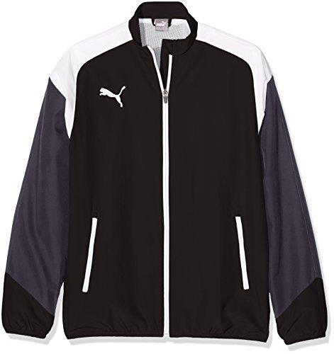 Puma Cat Woven Jacket (Puma Kinder Esito 4 Woven Jacket Jacke, Puma Black-Puma White-Ebony, 140)