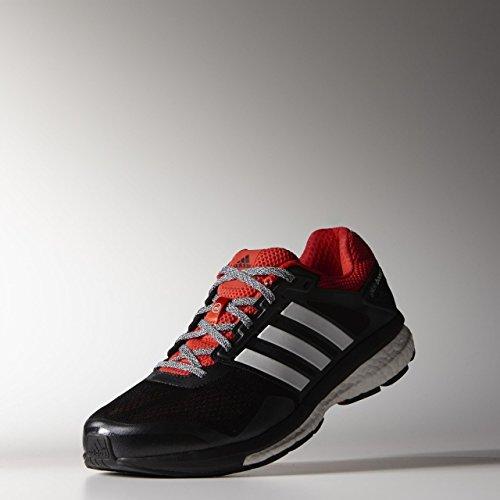 Adidas B36000, Herren Laufschuhe schwarz/rot