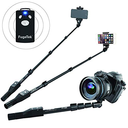 Professional Bluetooth Selfie Stick Fugetek für iPhone 6S/6S Plus/6/6 Plus, iPhone 4 5 5S 5 C, Android, GoPro, kompakt) Zoom Bluetooth
