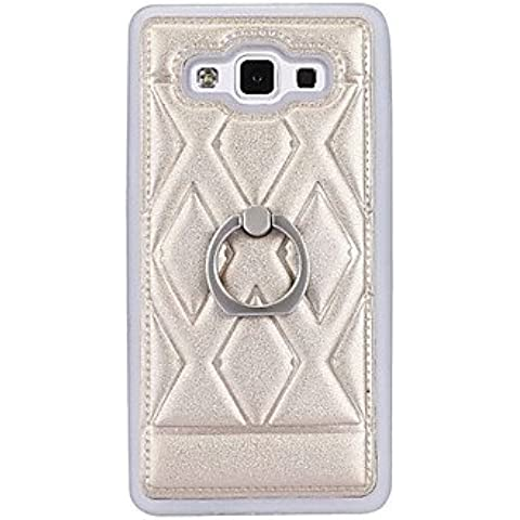 la nuova copertura della cassa del telefono staffa anello di diamanti creativo mano TPU a 360 gradi per la galassia a5 A500 a500h A7 A700 ( Colore : Oro , Modello compatibile : Galaxy A5 )