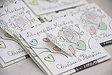 Gastgeschenk zur Hochzeit Personalisiert inkl. Blumensamen Tree of Love