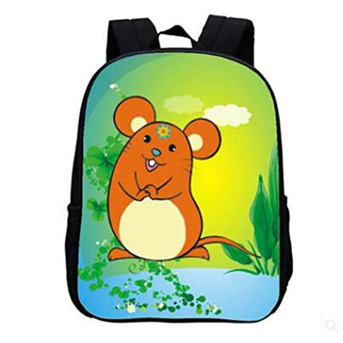 LIUHUIJUN Cartoon Rucksack Kleintier Kindergartentasche Kleiner Rucksack 30 * 24 * 12CM Gewicht 250g B -