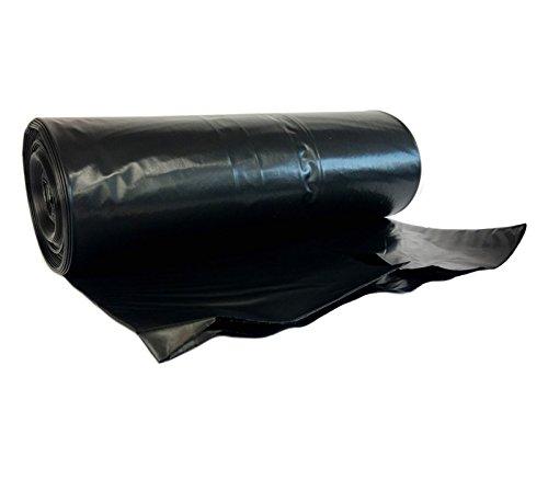 hocz 240 Liter Müllsack | reißfest extra stark ✔ | 10 stück auf Rolle ✔ | Typ 021 | Abfall-Säcke XXL Abfallbeutel Müllsäcke | 70 μ Schwarz | LDPE | Müllbeutel 1 rolle