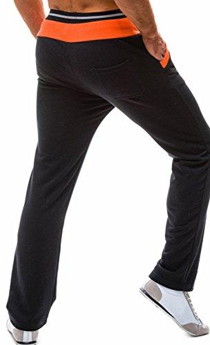I VVEEL Uomo Pantaloni di addestramento dei pantaloni della tuta sportiva della stampa del ghepardo di primavera di autunno Nero