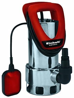 Einhell Schmutzwasserpumpe RG-DP 1035 N (1050 W, max. 18500 l/h, max. Förderhöhe 8 m, Fremdkörper bis 35 mm, Edelstahl-Pumpengehäuse) von Einhell