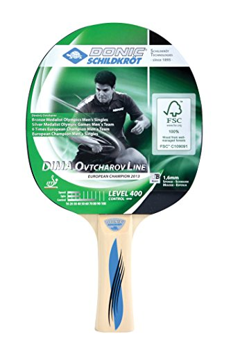 Donic-Schildkröt Tischtennis Schläger Dima OVTCHAROV 400 FSC, Holz/Natur, One Size, 705242