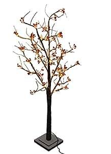 120 cm, Beere, Schnee, Warm Weiß LED
