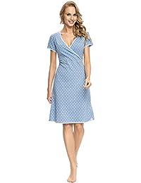 dn nightwear Damen Nachthemd zum Stillen TCB.9017