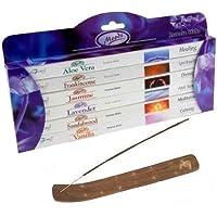 Moods Incense Sticks 6 Pack Gift Set by Stamford PLUS Wooden Incense Holder preisvergleich bei billige-tabletten.eu