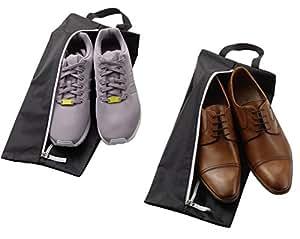ALPAMAYO Schuhtasche 2er Set, wasserundurchlässig. Trennen Sie schmutzige Schuhe und saubere Kleidung in Ihrer Reisetasche, Koffer oder Handgepäck; schwarz