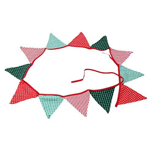 VWH Dreieck Wimpel Flagge Vintage Bunting Baumwolle Banner für Hochzeit Weihnachten (clorful)