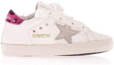 Golden Goose Luxury Fashion Bambina G36KS057A7 Bianco Pelle Sneakers | Ss21