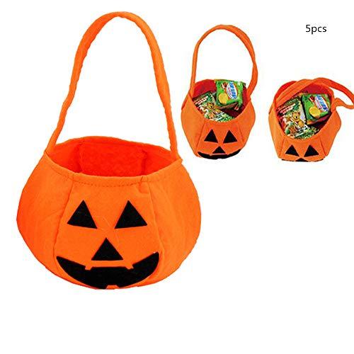 Kostüm Sack Papier - ZhiWei Kürbis Süßigkeiten Beutel Süßes oder Saures Beutel Halloween Beutel mit Griff für Kinder Halloween Kostüm Party 6 Stück