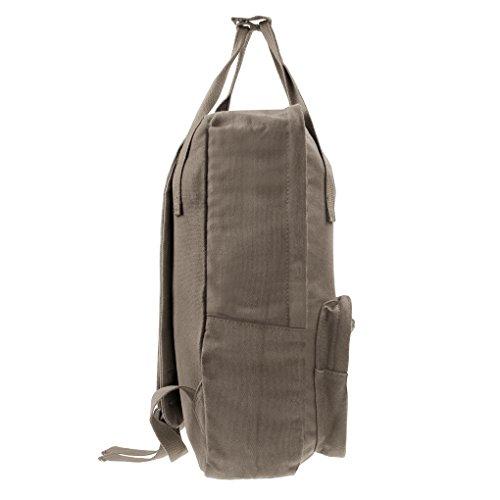 Damen Rucksack Canvas Schulrucksack lässige Backack Daypack mit größer Kapazität Laptoprucksack Outdoor Wandern Freizeitrucksack für Mädchen Jungen Braun