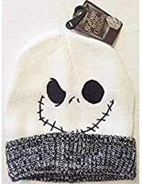 f5fd2533554 Disney Nightmare Before Christmas Jack Skellington Face Knit Beanie Hat  With Cuff - One Size