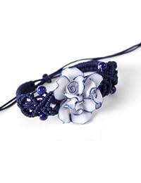 findout Jingdezhen trois fleurs de fleurs bracelet en céramique tissé à la main (F167)