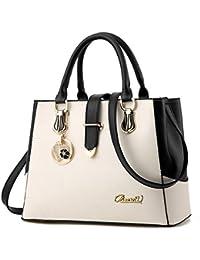 65954b72c7191 BestoU Damen Handtaschen Schwarz groß taschen Leder moderne damen handtasche  gross schultertasche Frauen Umhängetasche