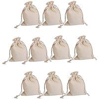 10pcs Bolsas de Regalo Saco de Joyas de Arpillera Cordón para Boda