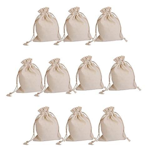 Pochette Coton - Lot de 10pcs Pochette à Bijoux Sac