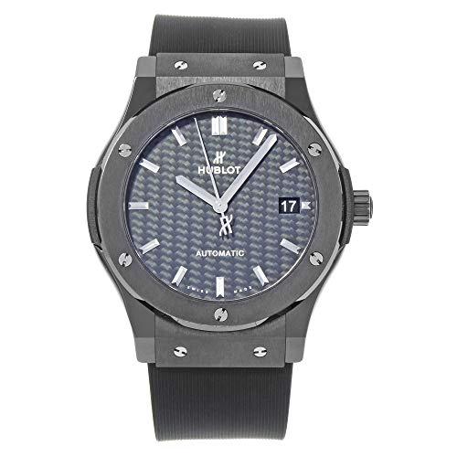 Hublot da uomo 45mm nero elastico di ceramica di anti Reflective zaffiro orologio automatico 511.cm.1771.Rx