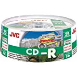 JVC Premium Grade CDR80 700MB Recordable CD - 25 Spindle Pack