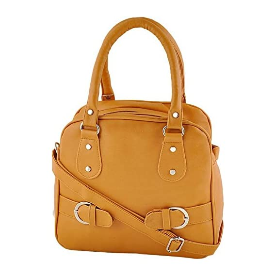 Typify Handbag with Sling Belt for Women (Mango)