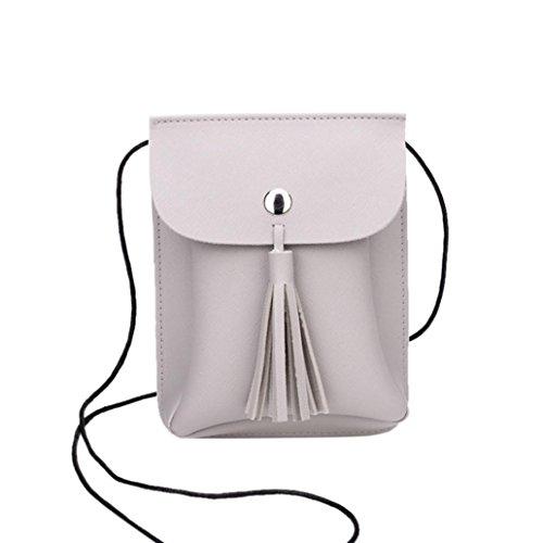 squarex Fashion Quasten Bag Umhängetasche Handy Tasche Münze Tasche Girl 's Schultertasche