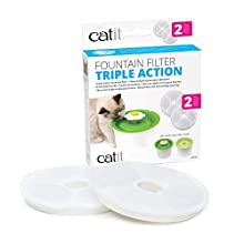 GENUINE Catit Fountain filters for 3L Catit Flower Fountain and Catit Fresh & Clear fountains only, Pack of 2