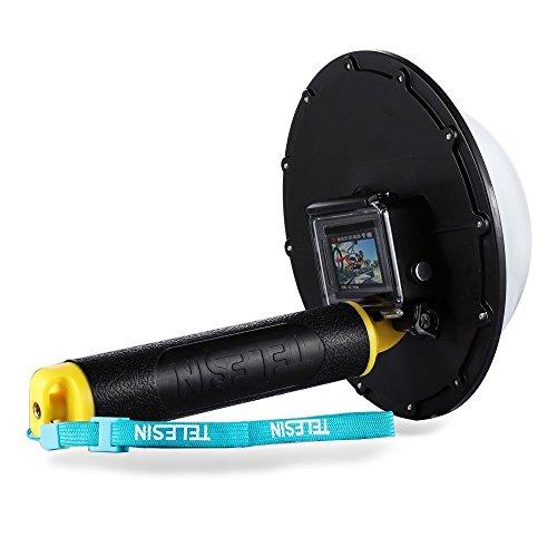 TELESIN Gopro Dome Port Impugnatura Impermeabile Terza Versione per Action Camera/Videocamera , Custodia Impermeabile 6 Pollici con Galleggiante Impugnatura Compatibile con GoPro Hero 3 / Hero 3+ / Hero 4