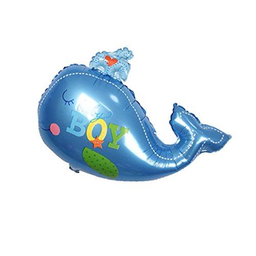 Unbekannt Ozean Thema Wal Folie Ballon Boy Girl Baby Shower Kinder Party Dekoration - Blauer Junge