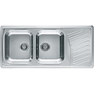 Alveus Sink 18/10Stainless Steel, Reversible Size: 111x 20-Inch, TT with Draining Board Type: Elegant 70QTY: 1