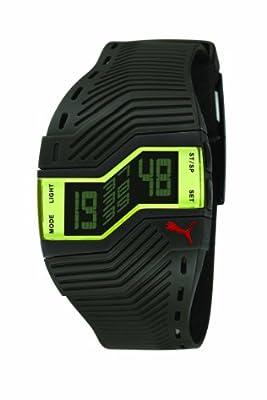 Puma PU910761001 - Reloj Digital de Cuarzo para Hombre con Correa de Caucho, Color Negro de Puma