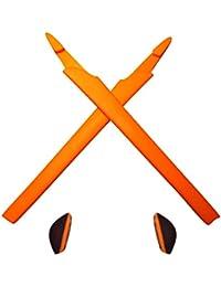 HKUCO Orange Replacement Silicone Leg Set For Oakley Crosslink Sunglasses Earsocks Rubber Kit