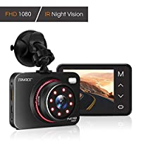 """Dash Cam 1080P FHD DVR Car Driving Recorder Supper Night Vision Dashcam 2.7"""" LCD Screen 170 Degree Wide Angle, G-Sensor, Parking Monitor, Loop Recording, Motion Detection"""