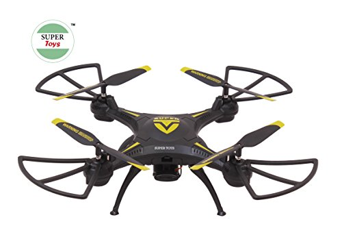 Super Toys Latest Super Drone with WiFi Camera, Black Color, USB Charger and RC